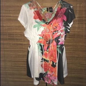 Flower & Lace Top